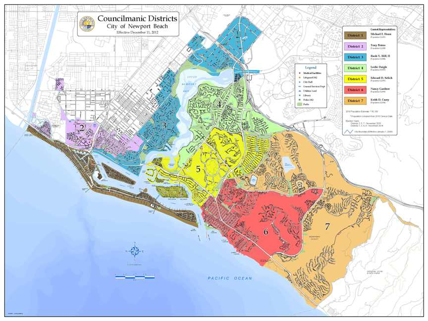 Newport Beach CA Map Catalog